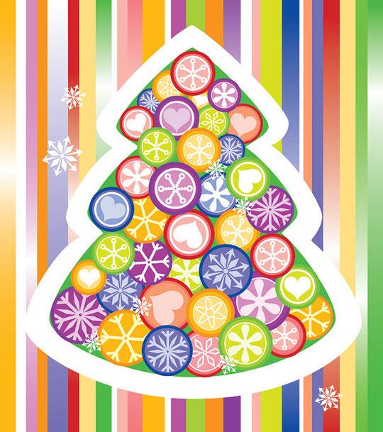 クリスマス・ツリーをイメージしたイラスト EXQUISITE CHRISTMAS TREE VECTOR5