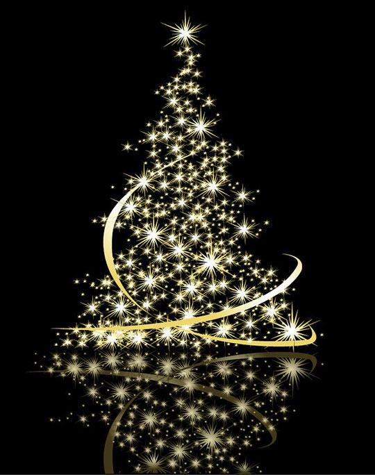 クリスマス・ツリーをイメージしたイラスト EXQUISITE CHRISTMAS TREE VECTOR2