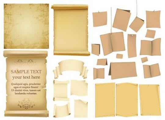 古風な用紙のテキスト スペース variety of old paper vector