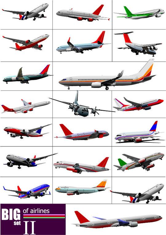 空飛ぶ飛行機の機体 flying aircraft vector material