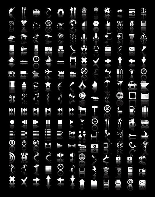 白抜きのウェブ アイコン White web icons vector