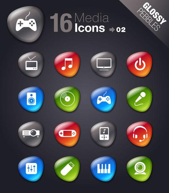 ゲーム用品のアイコン SMOOTH SOFT STONE ICON