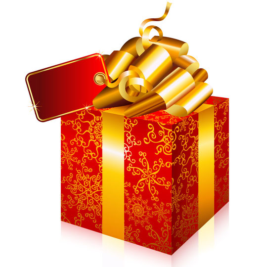 ハート模様のプレゼント箱 heart-shaped pattern gift box2