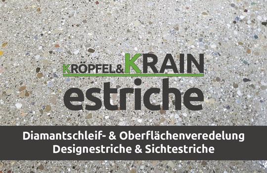 Designestrich, Oberflächenveredelung, Betonschleifen, Kröpfel & Krain Estriche, Estrich Salzburg