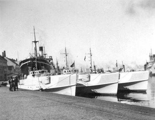 Drei Boote der 2. SFltl in Stavanger - Foto: Archiv Erling Skjold
