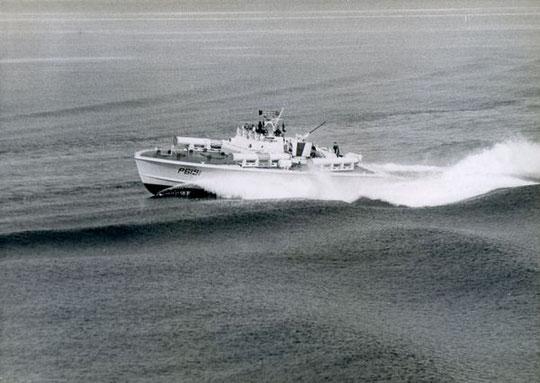 """S-""""Hugin"""" frei vom Kielwasser - Bild: Archiv Prochnow"""