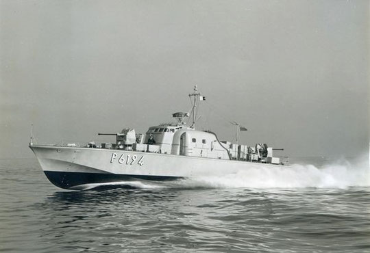 """S """"Strahl"""" Werft-Erprobung im Solent unter englischer Flagge - Bild: Archiv Brunsbach"""