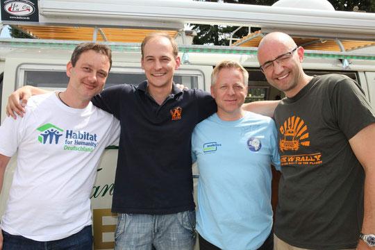 von links nach rechts: Patrick Hoese, Borris Förster ,Dirk Fißmer und