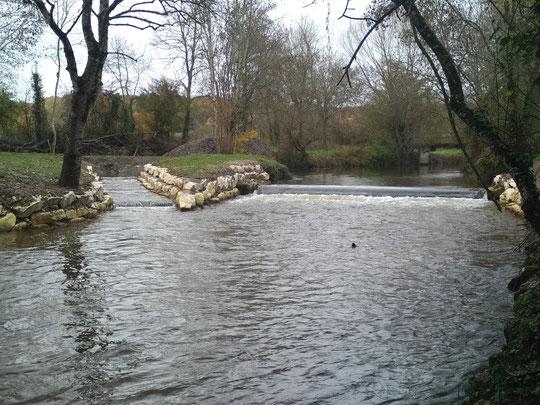 Fonctionnement de la rivière de contournement à 4 fois le module soit 9m3/S