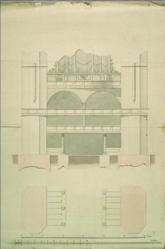 Stettin, St. Marien: Zeichnung von 1786