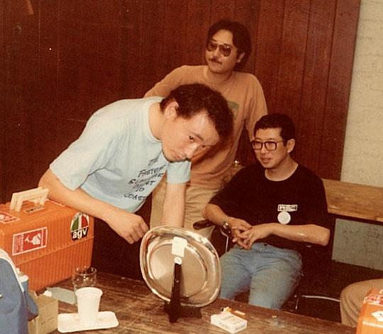 Les pilotes japonais à Uden en 1982