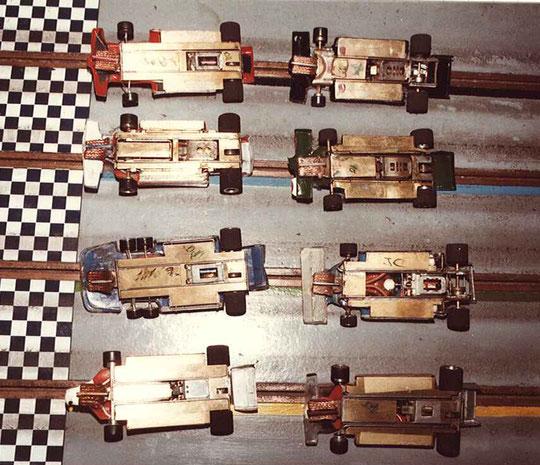 Les châssis finalistes en F 1 du Grand Prix de Thoiry 1984.