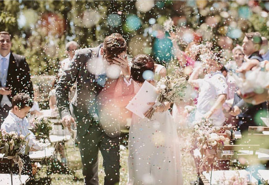 alternativas al arroz en las bodas