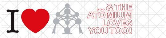 L'action Saint Valentin 2012 de l'Atomium...qui se termine le 6 février.