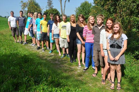 Klasse B3a - erster Schultag!