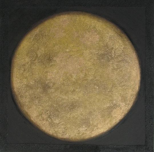 Goldener Kreis auf schwarzem Hintergrund 2011 Heidi Esch