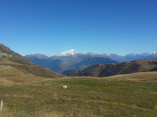le Mont Blanc vu du Col de la Madeleine en novembre