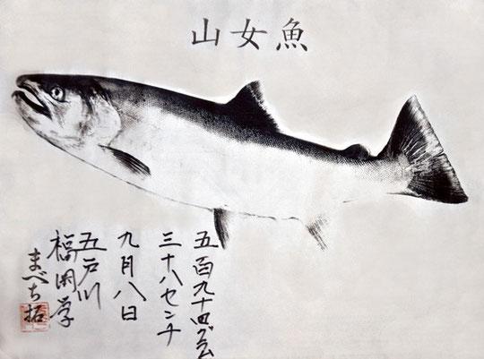2012 年竿名会 大物賞ヤマメ 福岡一竿