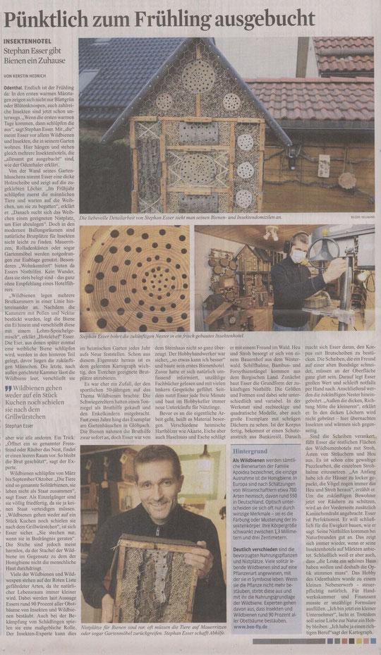 Pressebericht im Kölner Stadtanzeiger vom 04.04.2012 / zum Vergrößern klicken Sie bitte auf den Bericht