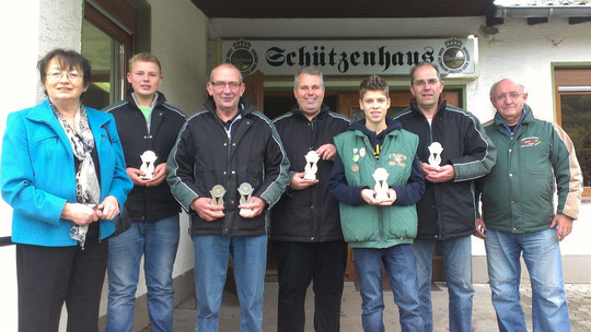 Charlotte Hager (Stadt Sinzig), Oliver Oedekoven, Peter Loga, Axel de Hesselle, Lars Klein, Horst Oedekoven, Hellmuth Krug