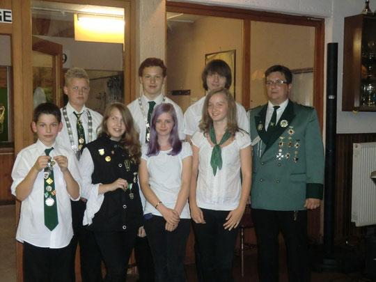 Jugendpreisträger 2012 mit Schülerprinz Timo Dräger u. Jugendprinz Oliver Oedeoven