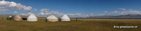 Kirgisische Jurten am Song köl