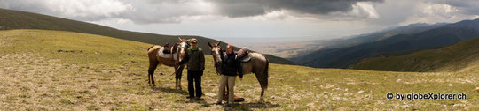Roy und Nicky mit den Trekkingpferden