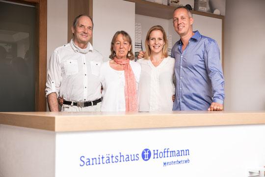 V.l.n.r.: Matthias Hoffmann, Joann Hoffmann, Philipp Hoffmann, Isabelle Goldmann