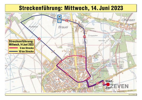 Die Streckenführung des dritten Tages, Mittwoch der 06.06.2018