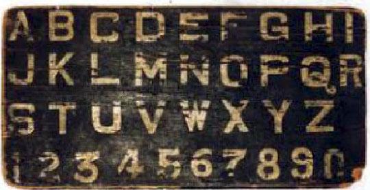 Meher Baba's alphabet board