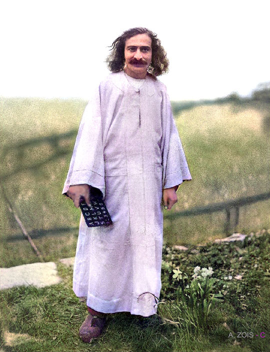 11. Meher Baba at the East Chalacombe property in Devon, England in 1932.