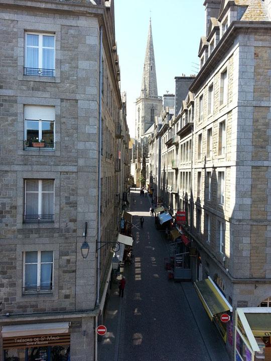 Saint Malo intra-muros, Grand-rue et  Cathédrale