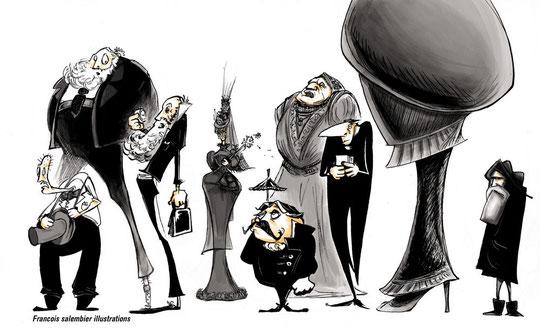 Petite illustration pour égailler un texte sur les tenues de deuil.