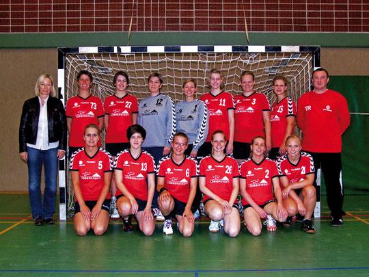 1.Damen - Saison 2010/11 - mit Trikotsponsor Karin Lübberstedt