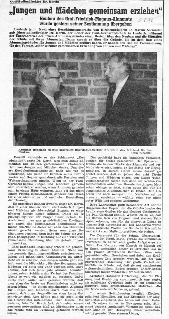 Gießener Allgemeine 2.06.1962