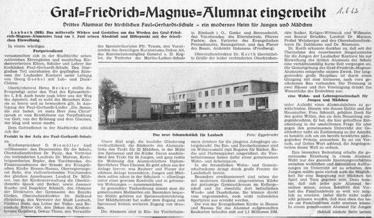 Gießener Anzeiger 1.06.1962 (2. Teil fehlt leider)