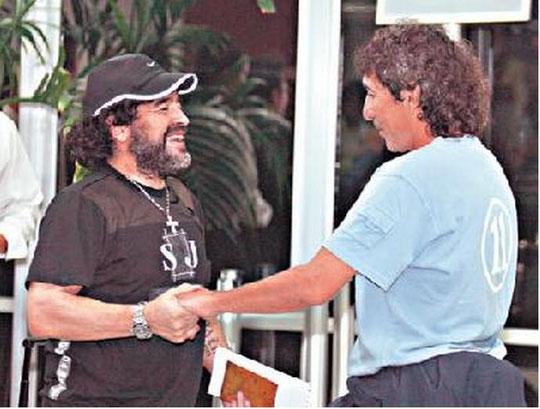 Fabricio Alfaro: Dos grandes Magico Gonzalez y Maradona