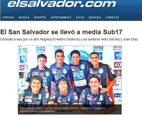 Fabricio Alfaro: Cuando llego a la Primera Division de Futbol a los 16 años, FC San Salvador