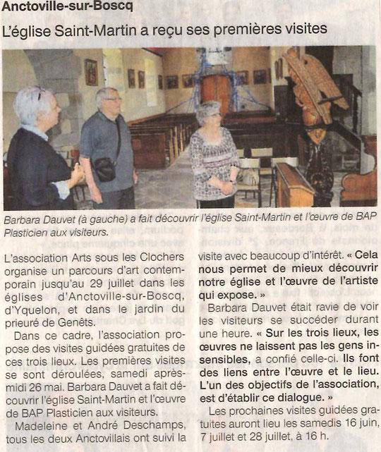 Ouest-France - Anctoville-sur-Boscq - 28 mai 2018