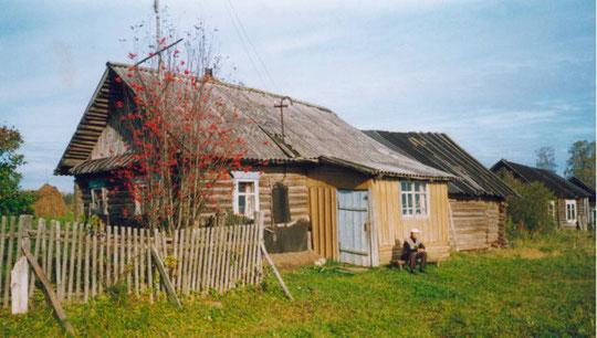 В.Иванов у своего дома.