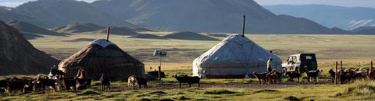 Camp Kazakh d'Altai à la réserve Tavan Bogd