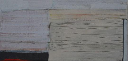 Ohne Titel   Eitempera auf Leinwand     30 x 50 cm