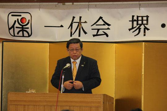 竹山おさみ堺市長、特別講演