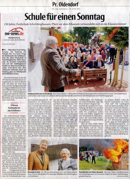 Bericht aus der Neuen Westfälischen vom 19.06.2012