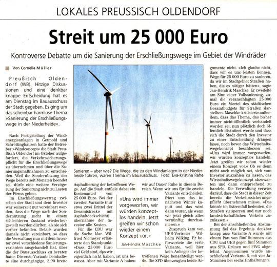 Lübbecker Kreiszeitung vom 26.11.2015