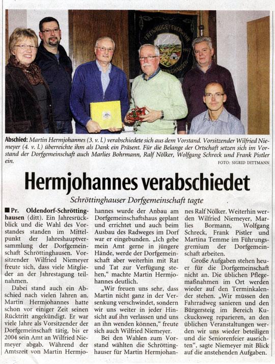 27.01.2015 Lübbecker Kreiszeitung