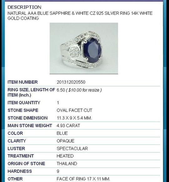 сапфиры в серебре,серебро и сапфиры,кольца с сапфирами