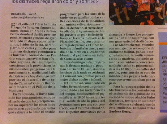 El Diario de Ávila, edición impresa domingo, 2 de marzo 2014