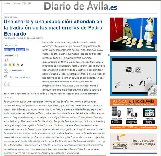 El Diario de Ávila (versión digital) 18 de marzo de 2014