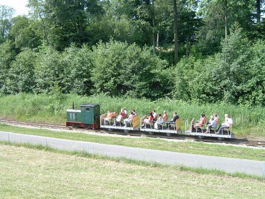 Fahrt unmittelbar am Elbdeich. Diese Lok ist mittlerweile beim DFKM in Deinste im Einsatz.